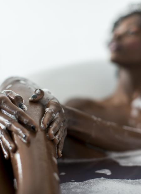 Black Woman in Bath